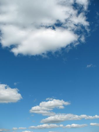 A Blue sky background. Can be used as texture.