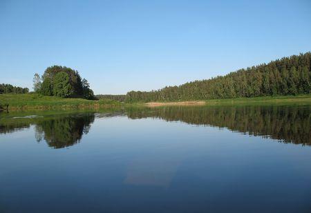 Latvian biggest river - Daugava.