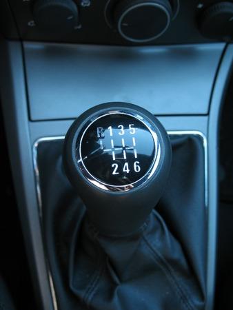 Manual gear close-up. Stock Photo