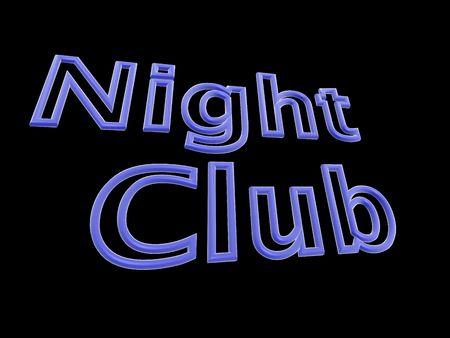 Neon text - night club.