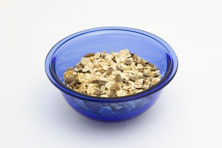 musli: Healthy breakfast - musli. Isolated on white.