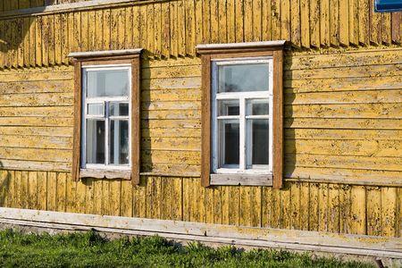 Old rural home facade. Stock Photo