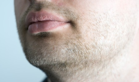sparse: Close-up of stubble. Stock Photo