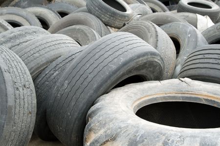 Old tires  stack. photo