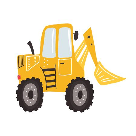 Adorable kids loader, hand drawn illustration for different children designs. Vector illustration can be used for patterns, prints, cards, posters