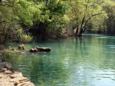Beautiful river in Bosnia landscape