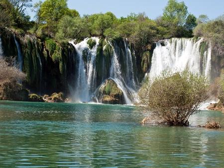 Waterfalls landscape in Bosnia Stock Photo