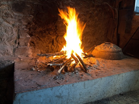 Traditional fireplace in Dalmatia close up Stock Photo - 13164771