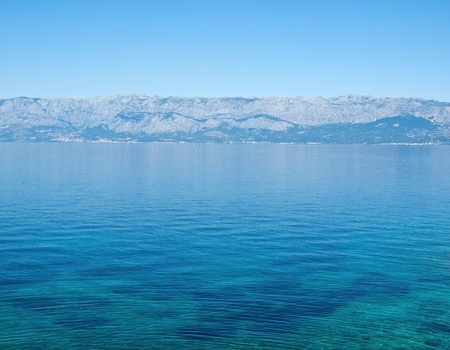 View at mountain over the Adriatic sea photo