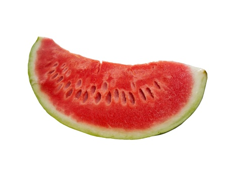 Delicious slice of watermelon isolated on white background