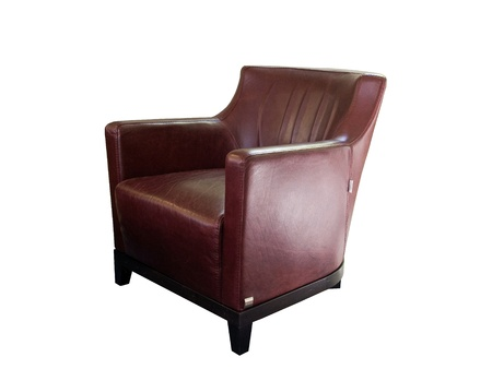 Leather chair isolated on white background