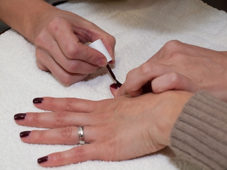 Fingernails painting in red Stock Photo - 13834002