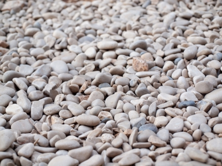 Background of pebbles on beach