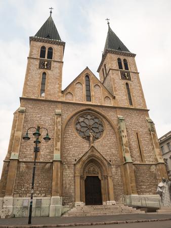 Sacred Heart Cathedral in Sarajevo, Bosnia and Herzegovina