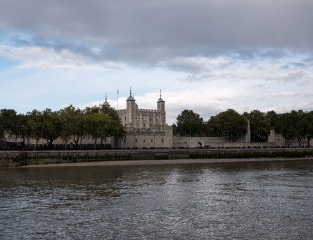 Tower of London from Thames river Editorial