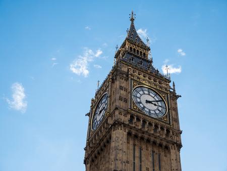 Famous Big Ben tower clock in London