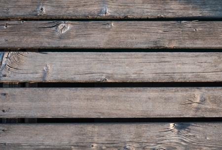 Old wooden bridge texture background Stock Photo