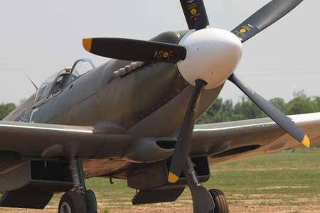 Comina, Italy - June 27, 2010: Supermarine Spitfire at La Comina Air Show.