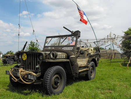 mb: Normandy, France - June 5, 2009: Willys MB at the Site Hillman during 65th D-Day celebrations. Editorial