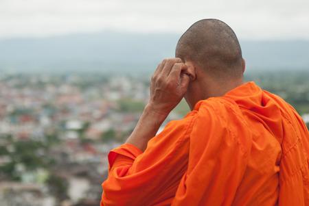 chang: Monk. Chang Mai, Thailand Stock Photo