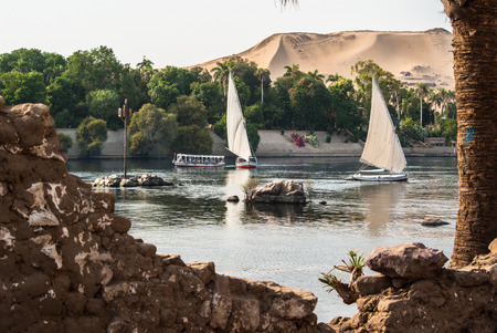 Felluca on Nile river. Egypt