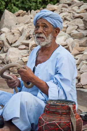 charmer: Snake Charmer in Cairos Street. Egypt