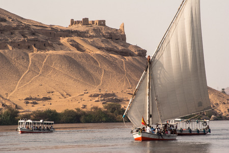 Felluca on Nile river, Egypt