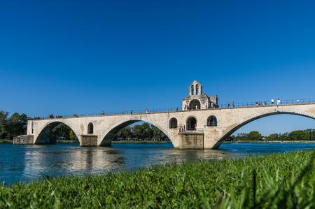 avignon: Pont Saint-Benezet in Avignon city. Provence, France