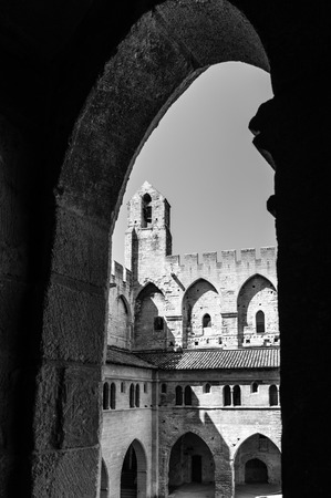 palais: Palais des Papes - Palace of the Popes - in Avignon, France.