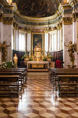 church interior: Assisi, Italy - October 2015 - Christians Church interior in Assisi. Italy, 2015