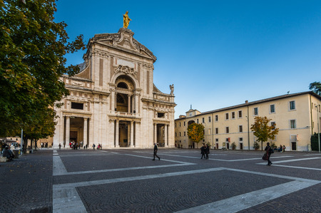 Angeli: ASSISI, ITALY - NOVEMBER 2015: Saint Mary of the Angels(Basilica of Santa Maria degli Angeli) is a church situated near Assisi, Italy.