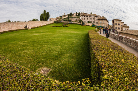 assisi: Panorama of Assisi in November.  Umbria, Italy