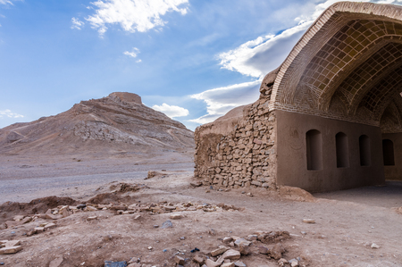 the silence of the world: Tower of Silence, ancient zoroastrian site in Yazd, Iran