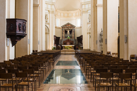 assisi: Assisi, Italy - October 2015 - Christians Church interior in Assisi. Italy, 2015