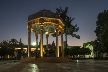 hafez: SHIRAZ, IRAN - February 2016: Tomb of Persian poet Hafez. Dome-like structure was erected in Shiraz near his grave at Golgast-e Mosalla in 1452. Iran, 2016 Editorial