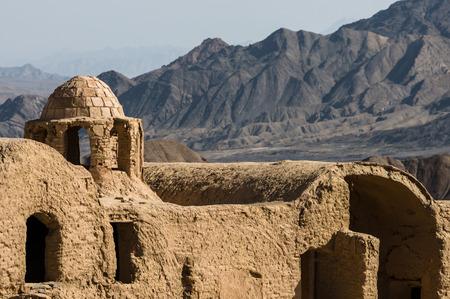 KHARANAQ, IRAN - February 2016: Old town of Kharanaq near Yadz, ruined by an earthquake. Iran, 2016 Editorial