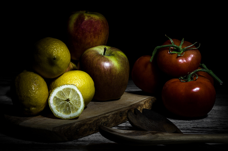 Particular tecnique of use the dramatic Caravaggios light for still life