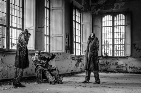 psychiatric: Volterra, Italy - September 2016: Abandoned psychiatric hospital in Volterra. It was home to more than 6,000 mental patients but was shut down in 1978 because its practices were deemed cruel. The hospital was called the place of no return because patien