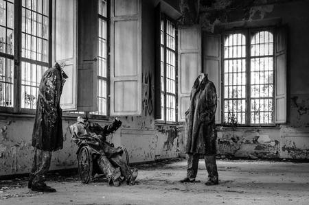 ヴォルテッラのヴォルテッラ, イタリア - 2016 年 9 月: 放棄された精神病院。以上 6,000 に在宅の精神病患者が、その慣行が残酷なと判断されたために、1978 年に閉鎖されました。病院はあったので '戻り値の場所' と呼ばれる patien