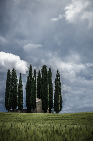 Val Dorcia landscape in spring. Tuscany, Italy