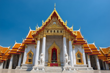 The Marble Temple, Wat Benchamabopitr Dusitvanaram Bangkok THAILAND photo