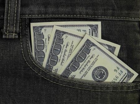 onehundred: one-hundred dollar cash in pocket