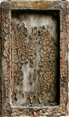 Abstract rusty grunge metal frame background photo
