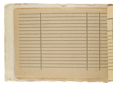 Vintage grungy lined paper photo