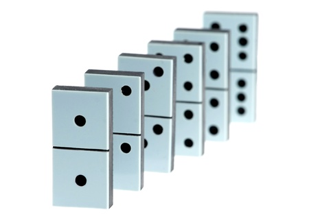 Dominoes isolated on a white background photo