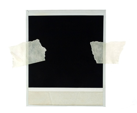 Blank photo card with masking tape photo