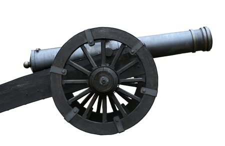 armament: Ancient cannon isolated on white background