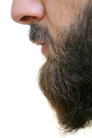 hombre con barba: Barba primer plano