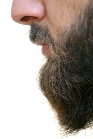 mann mit langen haaren: Beard Nahaufnahme Lizenzfreie Bilder