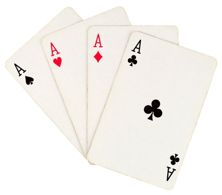 Four aces isolated on white background Stock Photo - 11405154